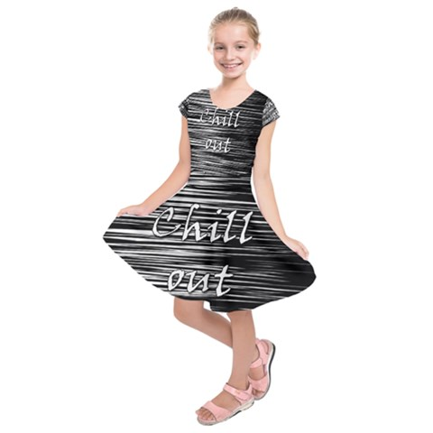 Black an white  Chill out  Kids  Short Sleeve Dress