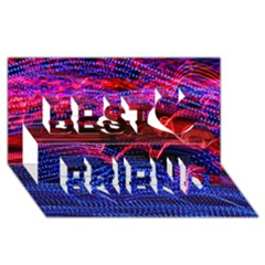 Lights Abstract Curves Long Exposure Best Friends 3D Greeting Card (8x4)