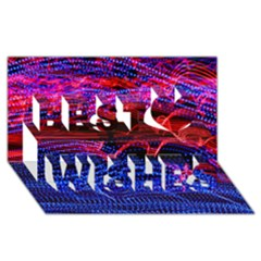 Lights Abstract Curves Long Exposure Best Wish 3D Greeting Card (8x4)