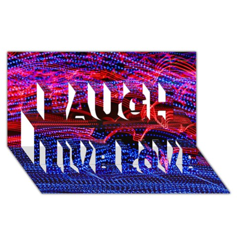 Lights Abstract Curves Long Exposure Laugh Live Love 3D Greeting Card (8x4)
