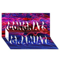 Lights Abstract Curves Long Exposure Congrats Graduate 3D Greeting Card (8x4)