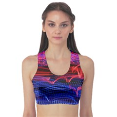 Lights Abstract Curves Long Exposure Sports Bra