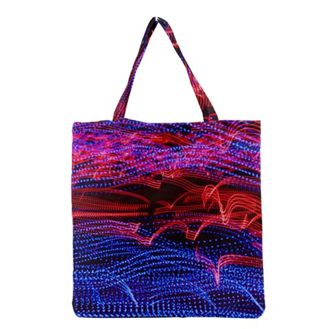 Lights Abstract Curves Long Exposure Grocery Tote Bag