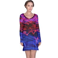 Lights Abstract Curves Long Exposure Long Sleeve Nightdress