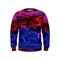 Lights Abstract Curves Long Exposure Kids  Sweatshirt