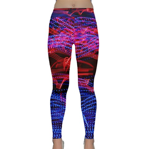 Lights Abstract Curves Long Exposure Yoga Leggings