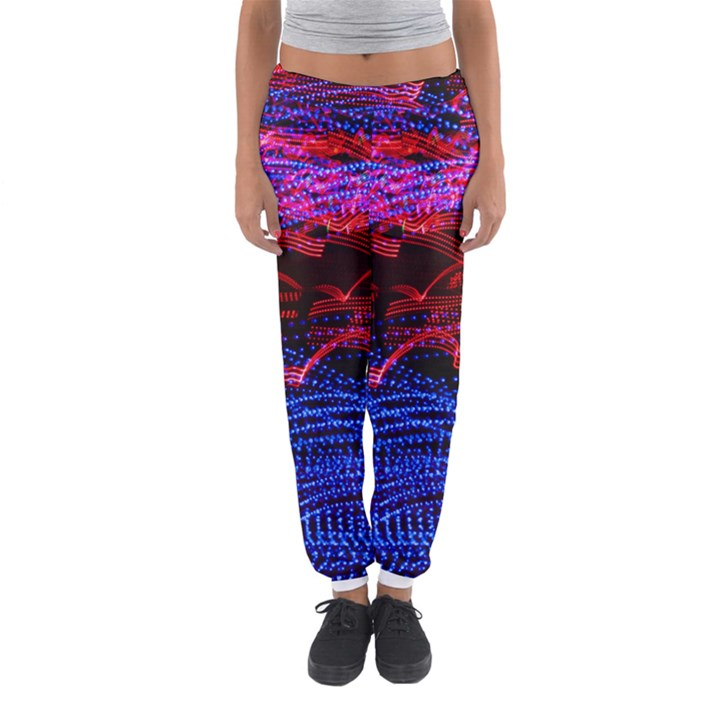 Lights Abstract Curves Long Exposure Women s Jogger Sweatpants
