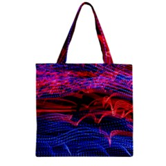 Lights Abstract Curves Long Exposure Zipper Grocery Tote Bag