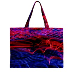 Lights Abstract Curves Long Exposure Zipper Mini Tote Bag