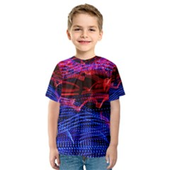Lights Abstract Curves Long Exposure Kids  Sport Mesh Tee