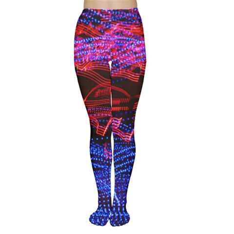 Lights Abstract Curves Long Exposure Women s Tights