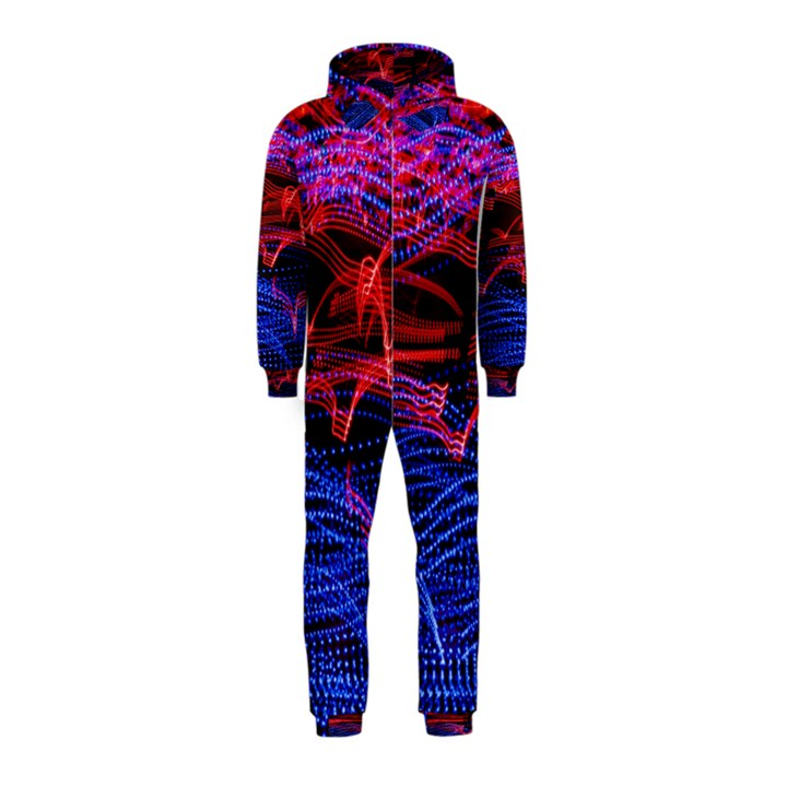 Lights Abstract Curves Long Exposure Hooded Jumpsuit (Kids)