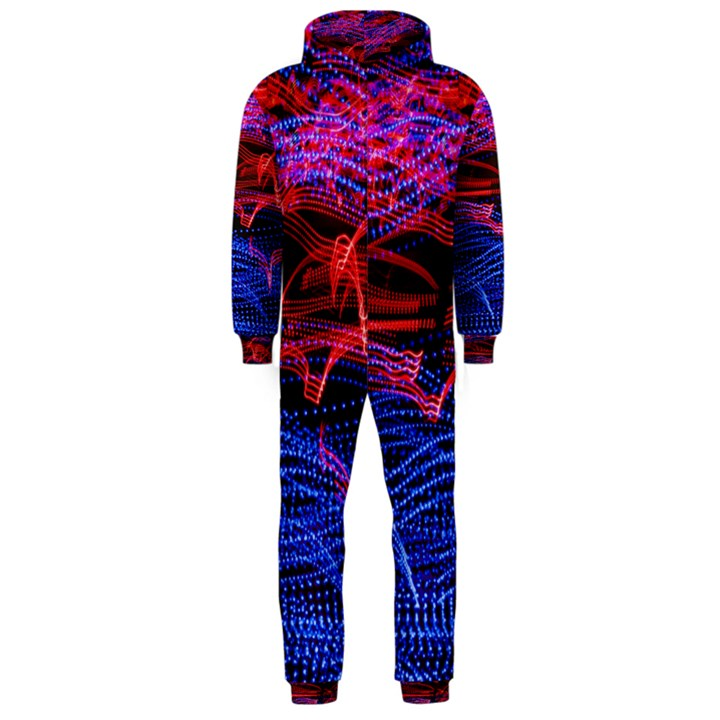 Lights Abstract Curves Long Exposure Hooded Jumpsuit (Men)