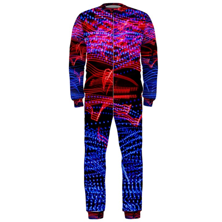 Lights Abstract Curves Long Exposure OnePiece Jumpsuit (Men)