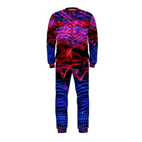 Lights Abstract Curves Long Exposure OnePiece Jumpsuit (Kids)