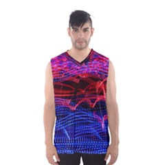 Lights Abstract Curves Long Exposure Men s Basketball Tank Top