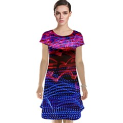 Lights Abstract Curves Long Exposure Cap Sleeve Nightdress