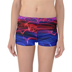 Lights Abstract Curves Long Exposure Reversible Boyleg Bikini Bottoms