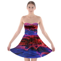 Lights Abstract Curves Long Exposure Strapless Bra Top Dress