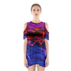 Lights Abstract Curves Long Exposure Cutout Shoulder Dress