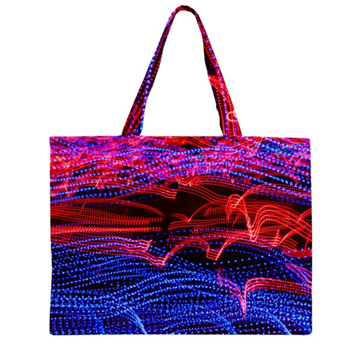 Lights Abstract Curves Long Exposure Large Tote Bag
