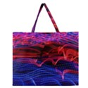 Lights Abstract Curves Long Exposure Zipper Large Tote Bag View1