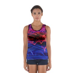 Lights Abstract Curves Long Exposure Women s Sport Tank Top