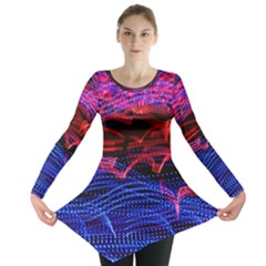 Lights Abstract Curves Long Exposure Long Sleeve Tunic