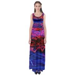 Lights Abstract Curves Long Exposure Empire Waist Maxi Dress