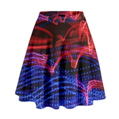 Lights Abstract Curves Long Exposure High Waist Skirt