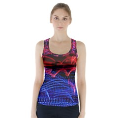 Lights Abstract Curves Long Exposure Racer Back Sports Top