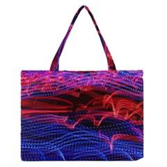 Lights Abstract Curves Long Exposure Medium Zipper Tote Bag