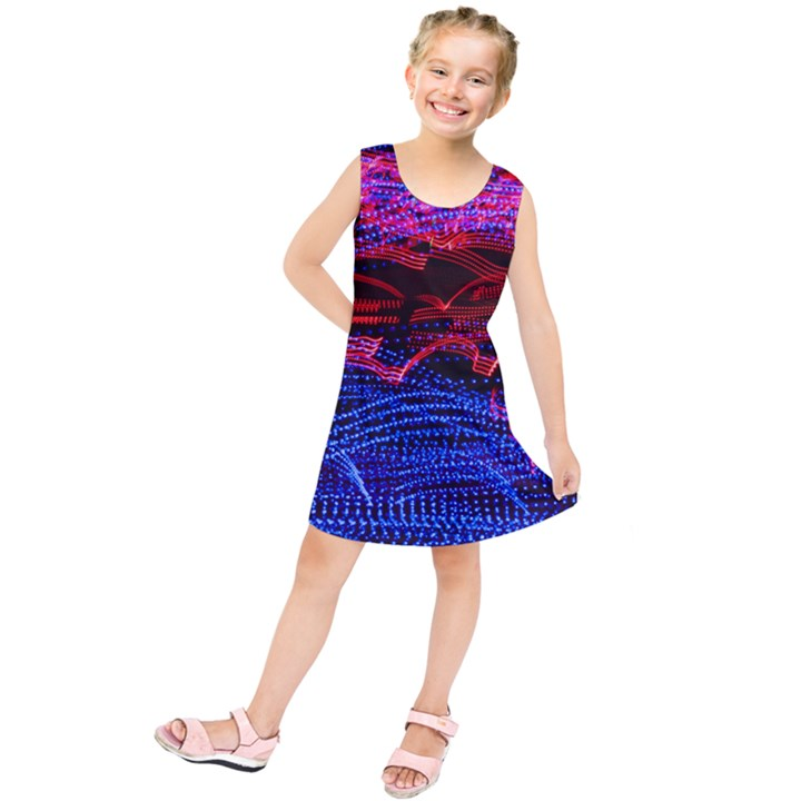 Lights Abstract Curves Long Exposure Kids  Tunic Dress