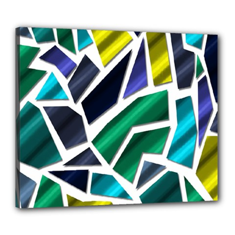 Mosaic Shapes Canvas 24  x 20