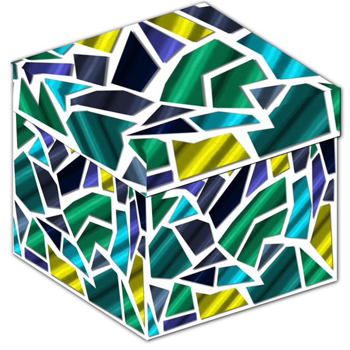 Mosaic Shapes Storage Stool 12