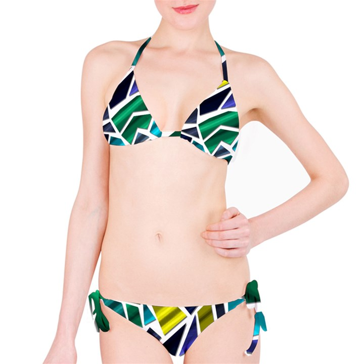 Mosaic Shapes Bikini Set