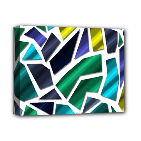 Mosaic Shapes Deluxe Canvas 14  x 11