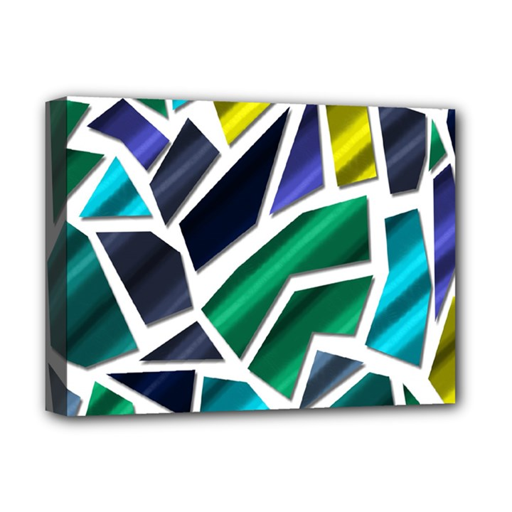 Mosaic Shapes Deluxe Canvas 16  x 12