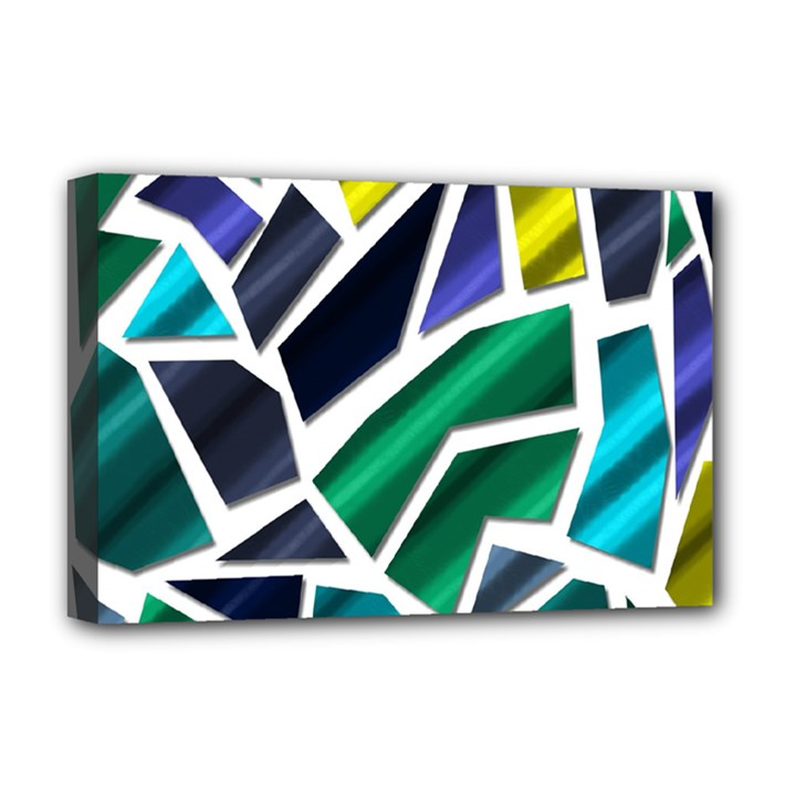 Mosaic Shapes Deluxe Canvas 18  x 12