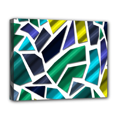 Mosaic Shapes Deluxe Canvas 20  x 16
