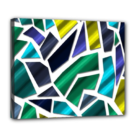 Mosaic Shapes Deluxe Canvas 24  x 20