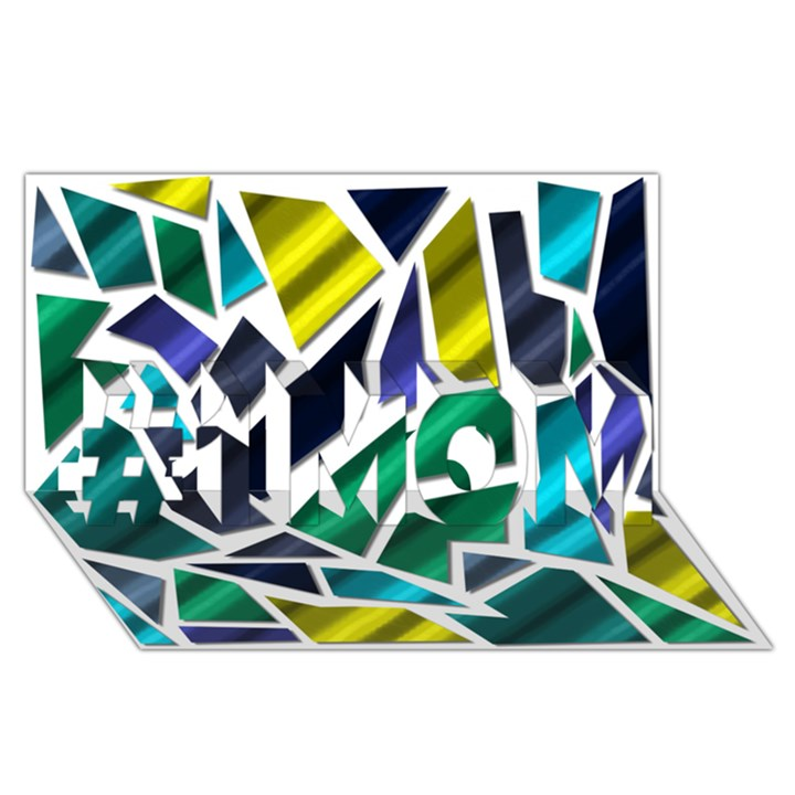 Mosaic Shapes #1 MOM 3D Greeting Cards (8x4)