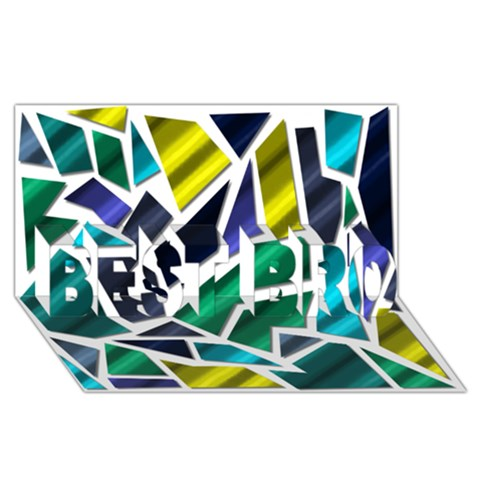 Mosaic Shapes BEST BRO 3D Greeting Card (8x4)