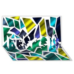 Mosaic Shapes BEST SIS 3D Greeting Card (8x4)