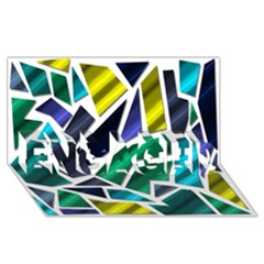 Mosaic Shapes ENGAGED 3D Greeting Card (8x4)