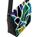 Mosaic Shapes Flap Messenger Bag (L)  View2