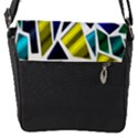 Mosaic Shapes Flap Messenger Bag (S) View1