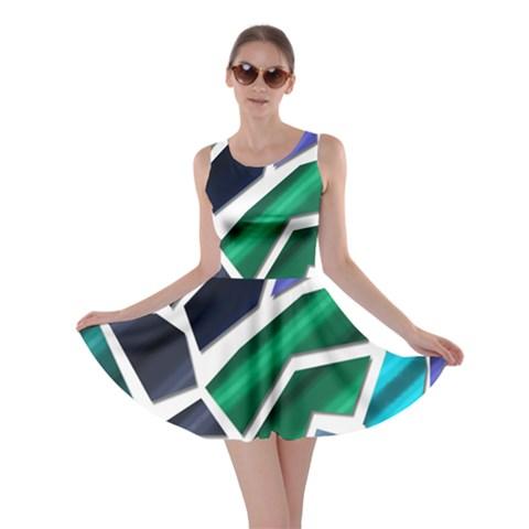 Mosaic Shapes Skater Dress