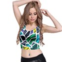 Mosaic Shapes Crop Top View2
