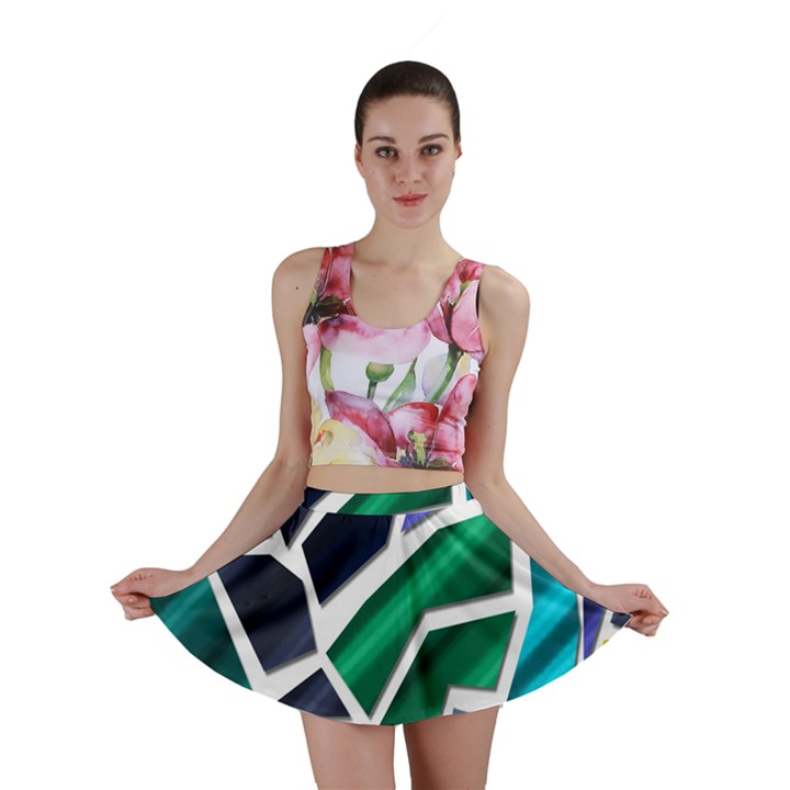 Mosaic Shapes Mini Skirt